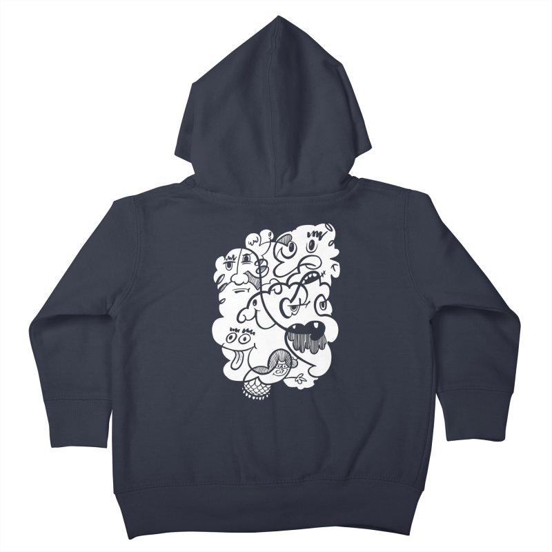 Just another doodle Kids Toddler Zip-Up Hoody by Favati