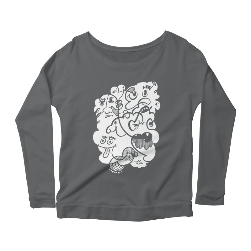 Just another doodle Women's Scoop Neck Longsleeve T-Shirt by Favati