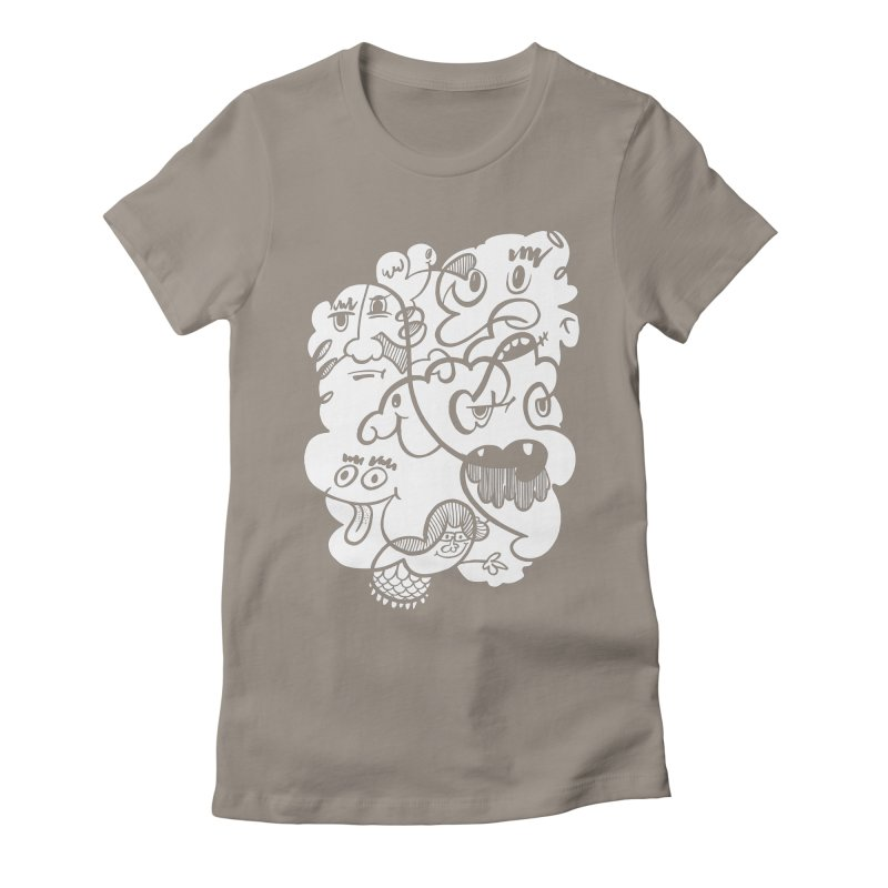 Just another doodle Women's Fitted T-Shirt by Favati
