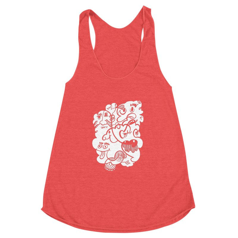 Just another doodle Women's Racerback Triblend Tank by Favati