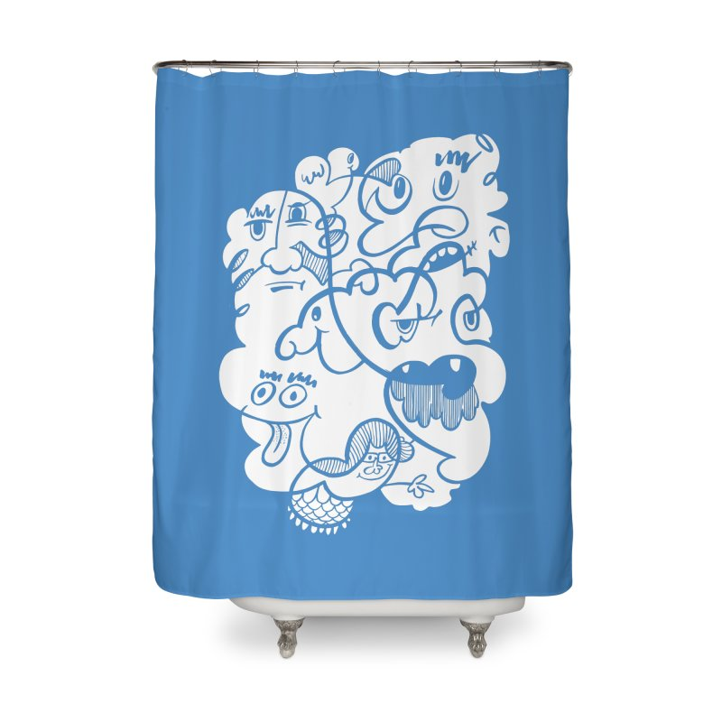 Just another doodle Home Shower Curtain by Favati