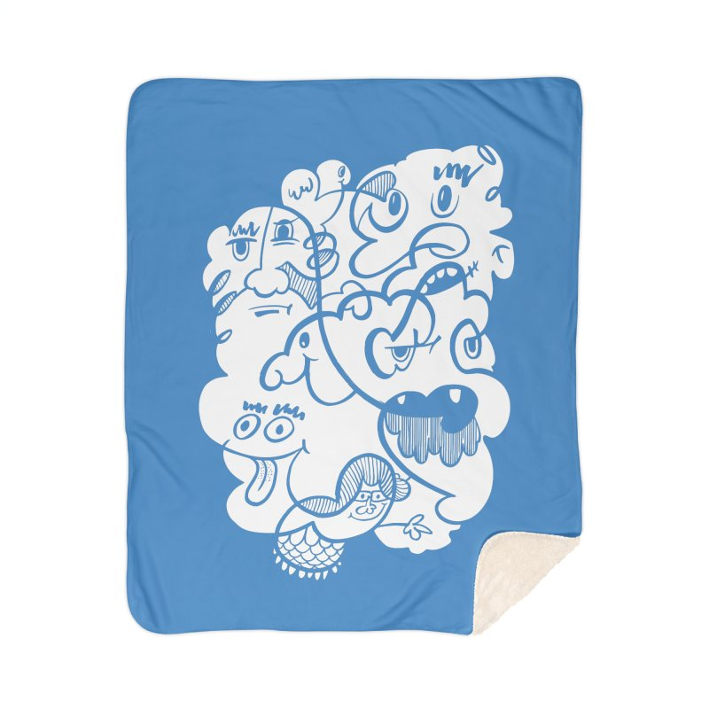 Just another doodle Home Sherpa Blanket Blanket by Favati