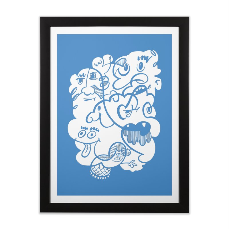 Just another doodle Home Framed Fine Art Print by Favati