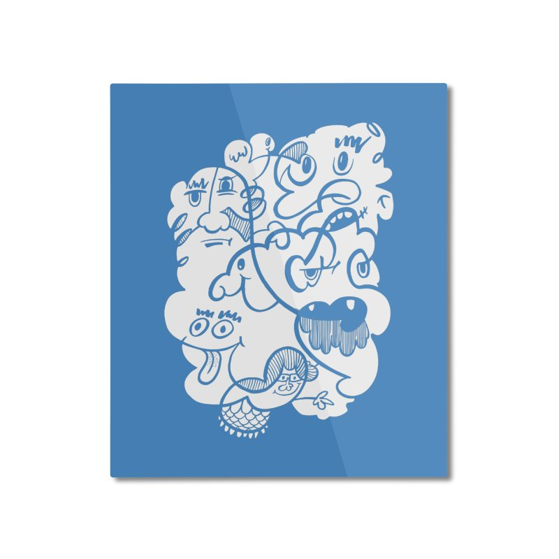 Just another doodle Home Mounted Aluminum Print by Favati