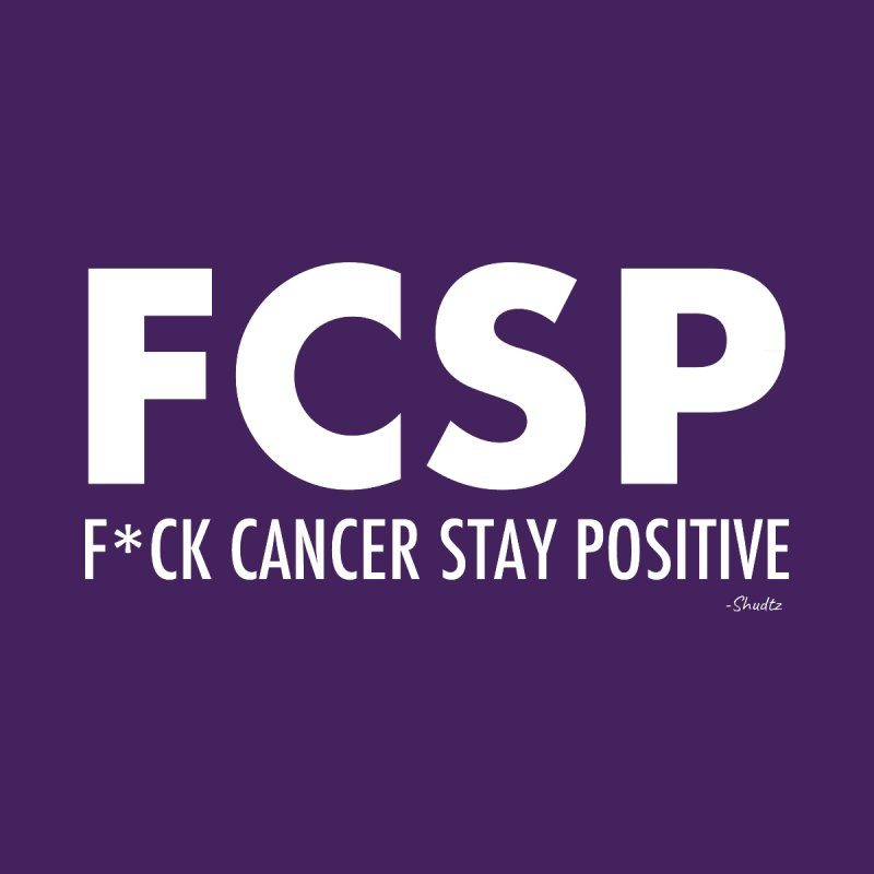 F* Cancer (White Font) Men's Longsleeve T-Shirt by The FCSP Foundation Shop