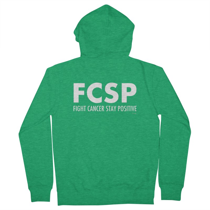 Fight Cancer (White Font) Men's Zip-Up Hoody by The FCSP Foundation Shop