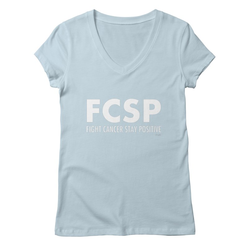 Fight Cancer (White Font) Women's V-Neck by The FCSP Foundation Shop