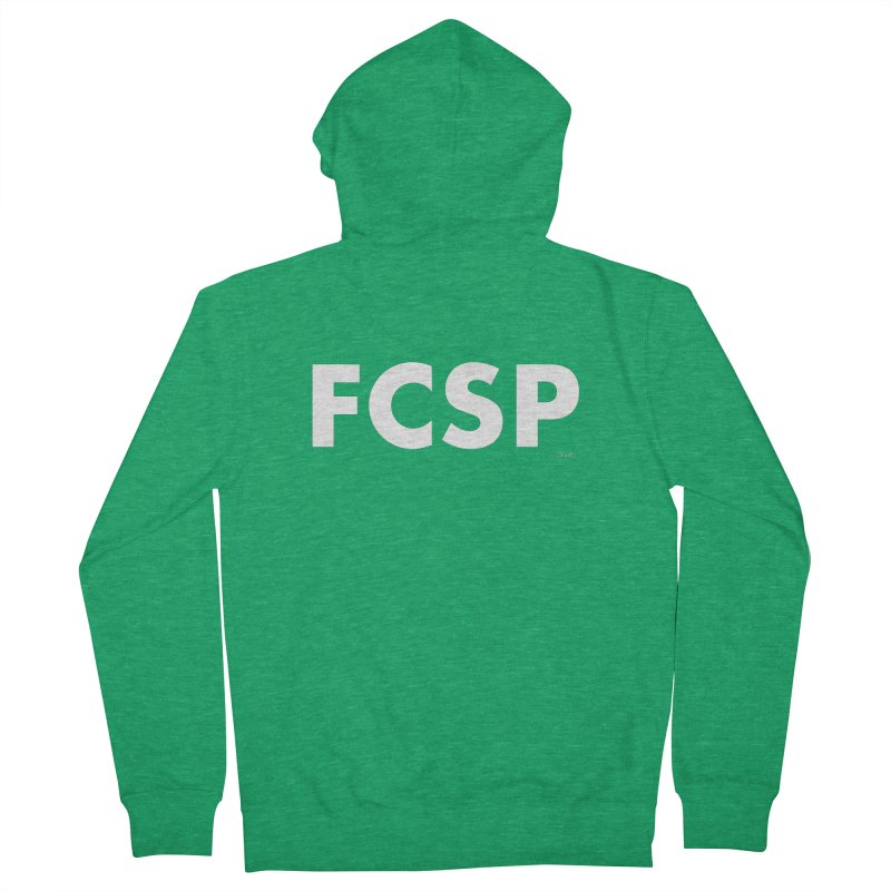 FCSP (White Font) Men's Zip-Up Hoody by The FCSP Foundation Shop
