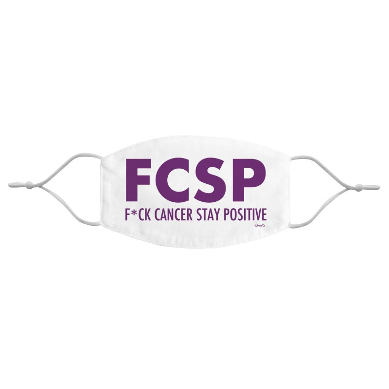 F* Cancer (Purple font) Accessories Face Mask by The FCSP Foundation Shop