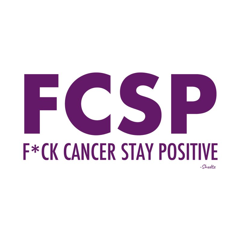 F* Cancer (Purple font) Home Throw Pillow by The FCSP Foundation Shop