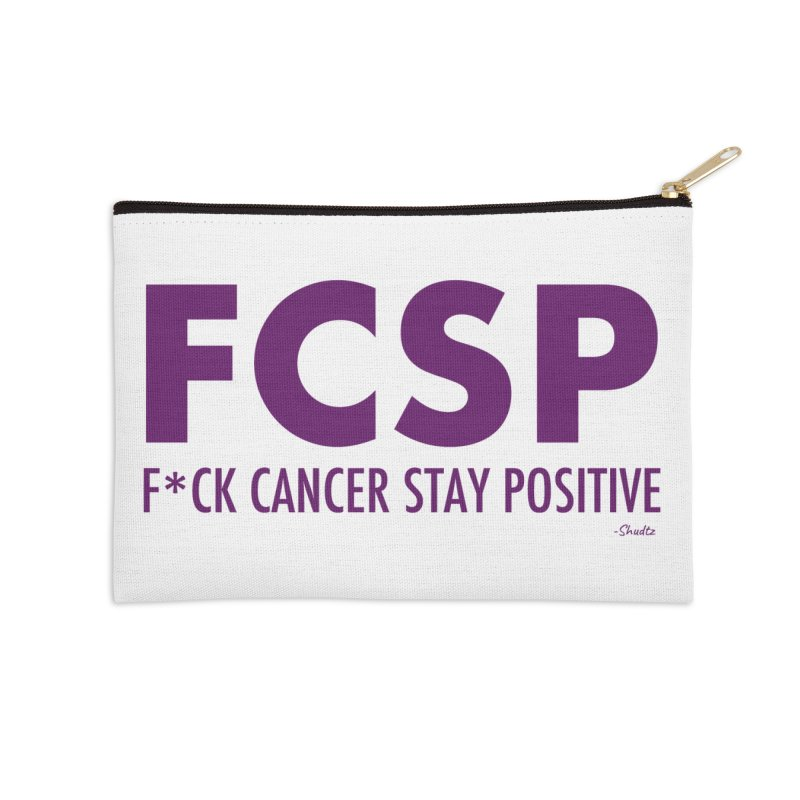 F* Cancer (Purple font) Accessories Zip Pouch by The FCSP Foundation Shop