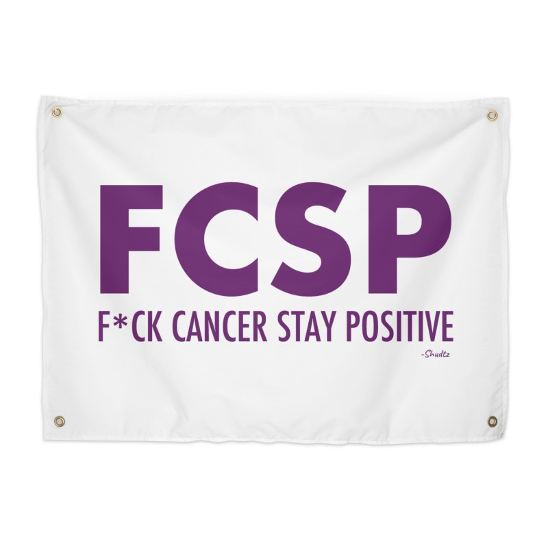 F* Cancer (Purple font) Home Tapestry by The FCSP Foundation Shop