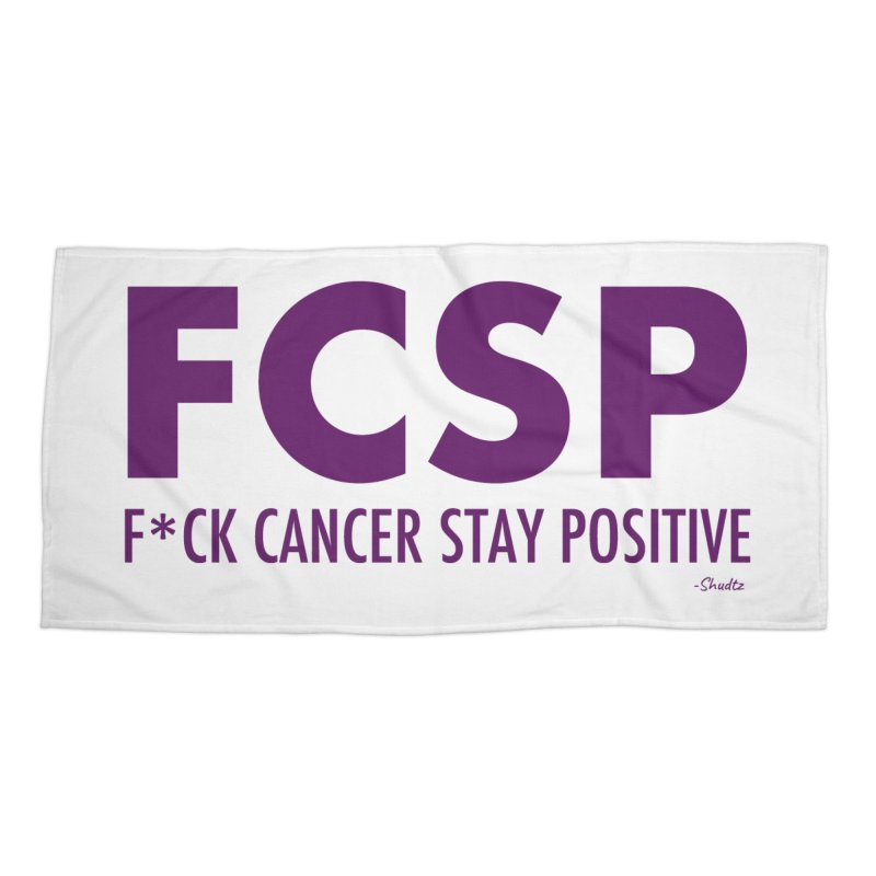 F* Cancer (Purple font) Accessories Beach Towel by The FCSP Foundation Shop