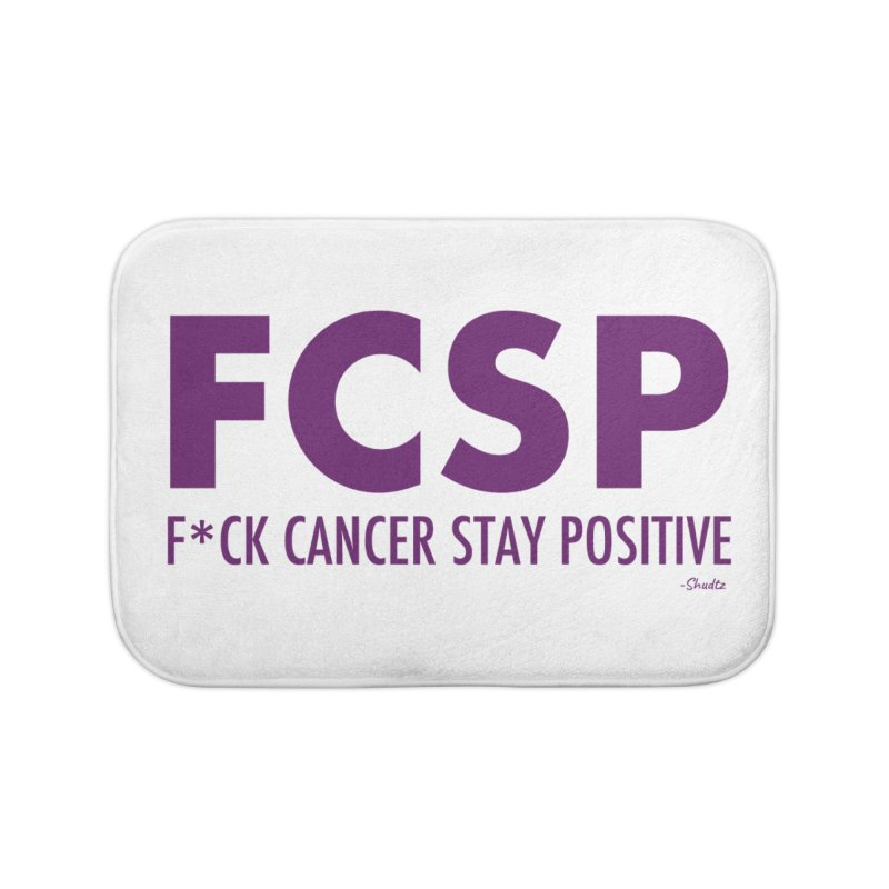F* Cancer (Purple font) Home Bath Mat by The FCSP Foundation Shop