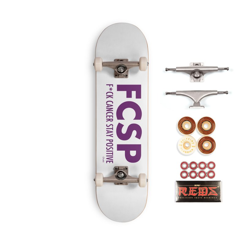 F* Cancer (Purple font) Accessories Skateboard by The FCSP Foundation Shop