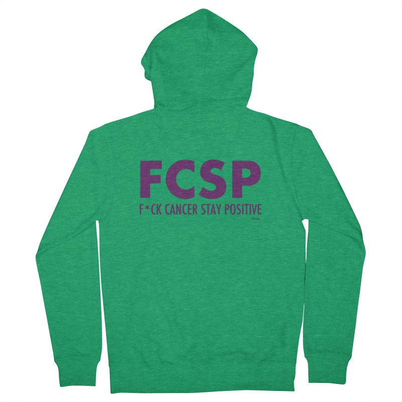F* Cancer (Purple font) Men's Zip-Up Hoody by The FCSP Foundation Shop