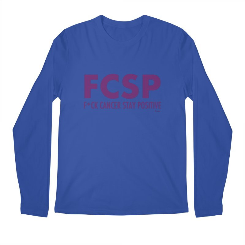 F* Cancer (Purple font) Men's Longsleeve T-Shirt by The FCSP Foundation Shop