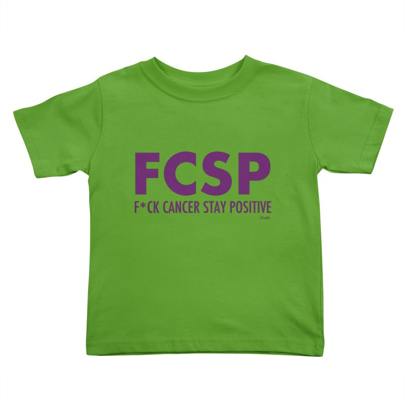 F* Cancer (Purple font) Kids Toddler T-Shirt by The FCSP Foundation Shop