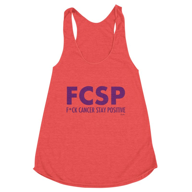 F* Cancer (Purple font) Women's Tank by The FCSP Foundation Shop