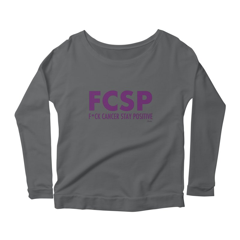F* Cancer (Purple font) Women's Longsleeve T-Shirt by The FCSP Foundation Shop