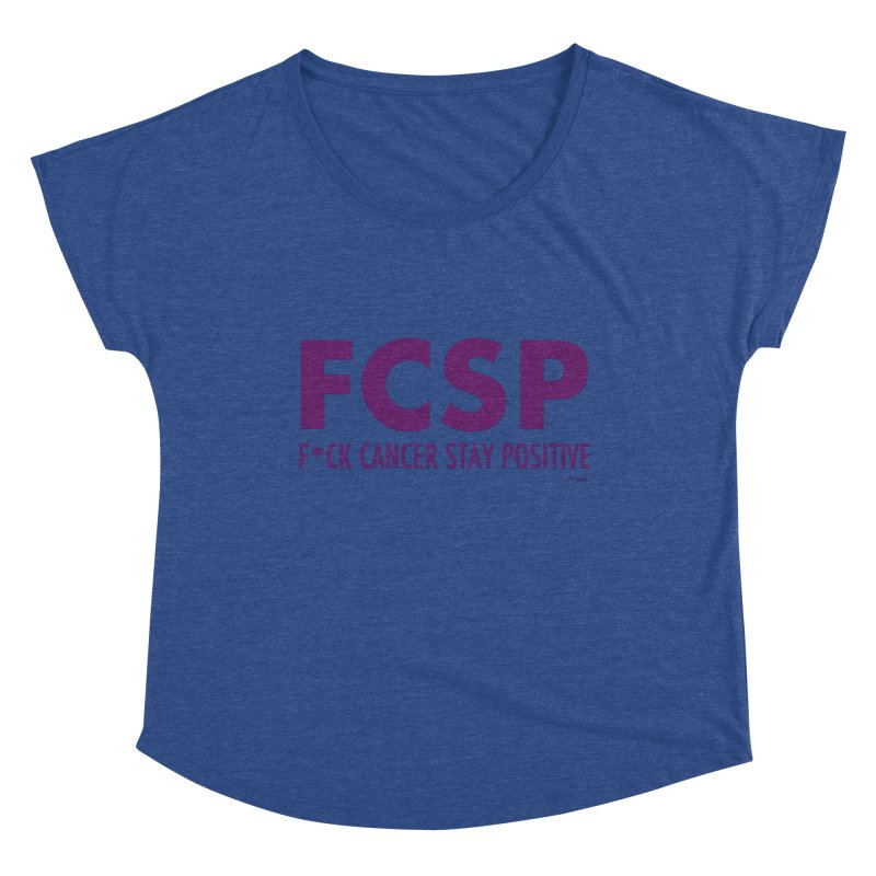 F* Cancer (Purple font) Women's Scoop Neck by The FCSP Foundation Shop