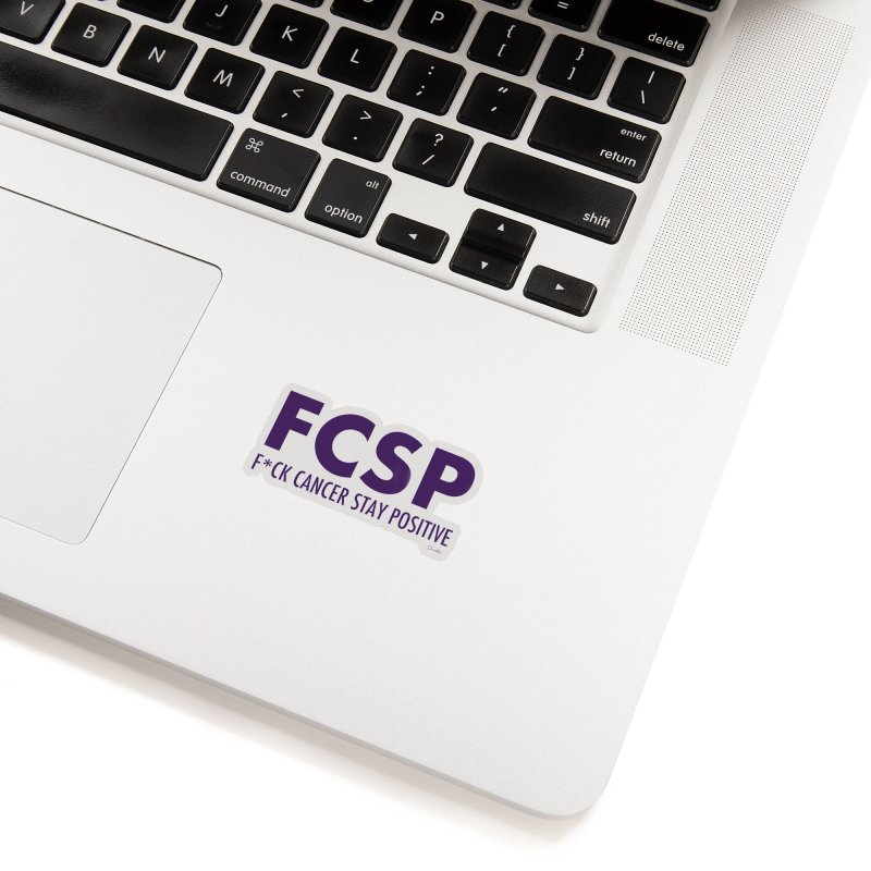 F* Cancer (Purple font) Accessories Sticker by The FCSP Foundation Shop