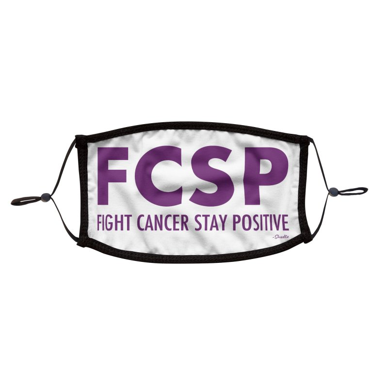 Fight Cancer (Purple Font) Accessories Face Mask by The FCSP Foundation Shop