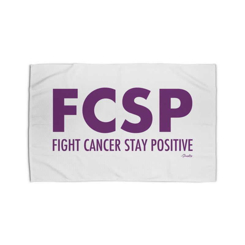 Fight Cancer (Purple Font) Home Rug by The FCSP Foundation Shop