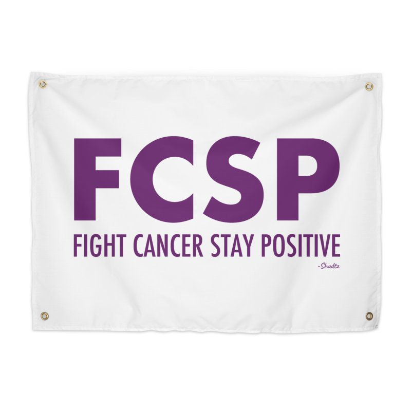 Fight Cancer (Purple Font) Home Tapestry by The FCSP Foundation Shop