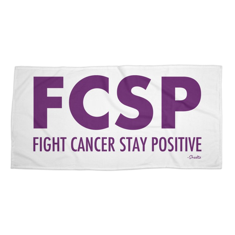 Fight Cancer (Purple Font) Accessories Beach Towel by The FCSP Foundation Shop