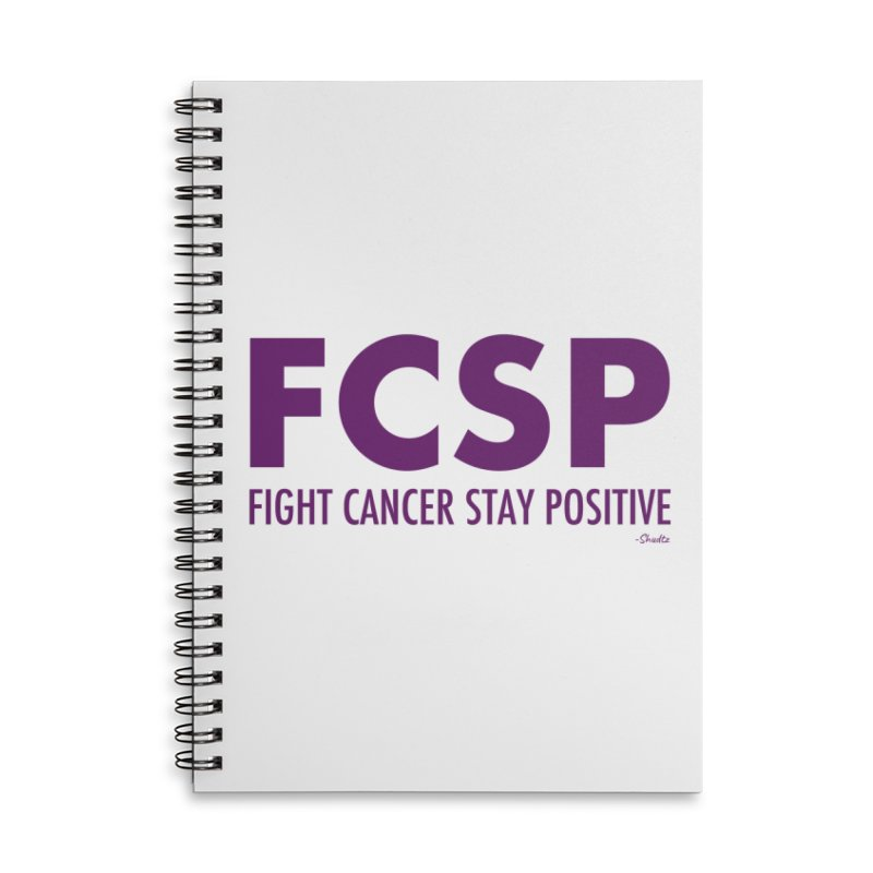 Fight Cancer (Purple Font) Accessories Notebook by The FCSP Foundation Shop