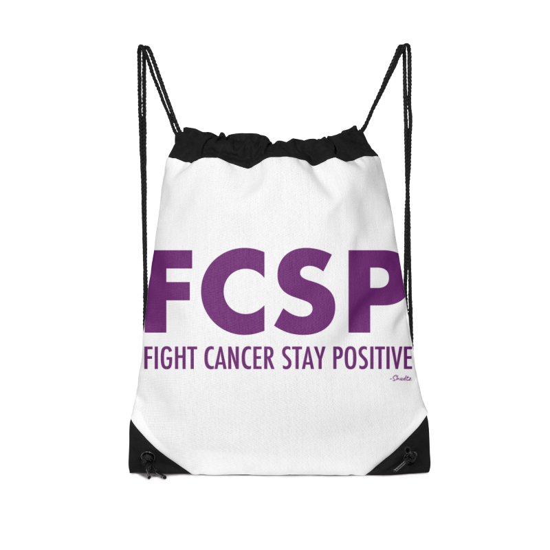 Fight Cancer (Purple Font) Accessories Bag by The FCSP Foundation Shop