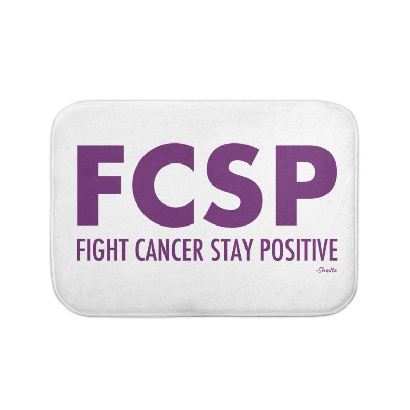 Fight Cancer (Purple Font) Home Bath Mat by The FCSP Foundation Shop