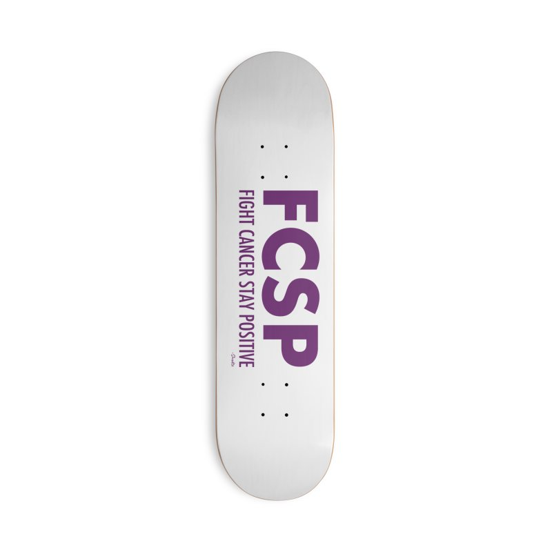Fight Cancer (Purple Font) Accessories Skateboard by The FCSP Foundation Shop