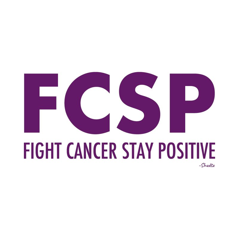 Fight Cancer (Purple Font) Home Throw Pillow by The FCSP Foundation Shop