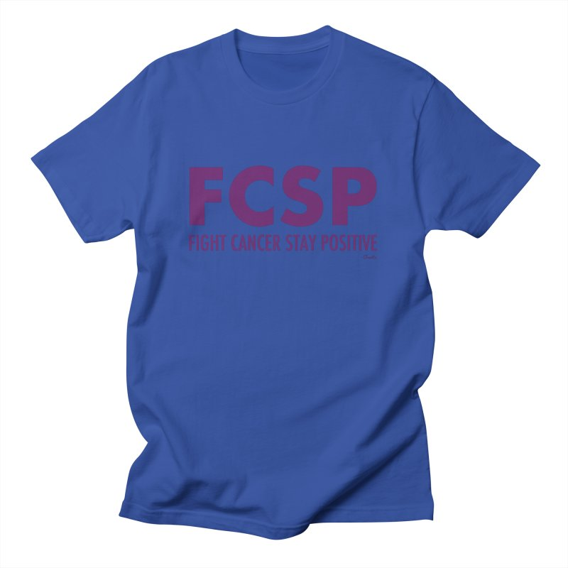 Fight Cancer (Purple Font) Men's T-Shirt by The FCSP Foundation Shop