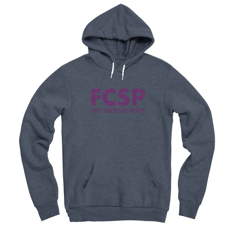 Fight Cancer (Purple Font) Men's Pullover Hoody by The FCSP Foundation Shop