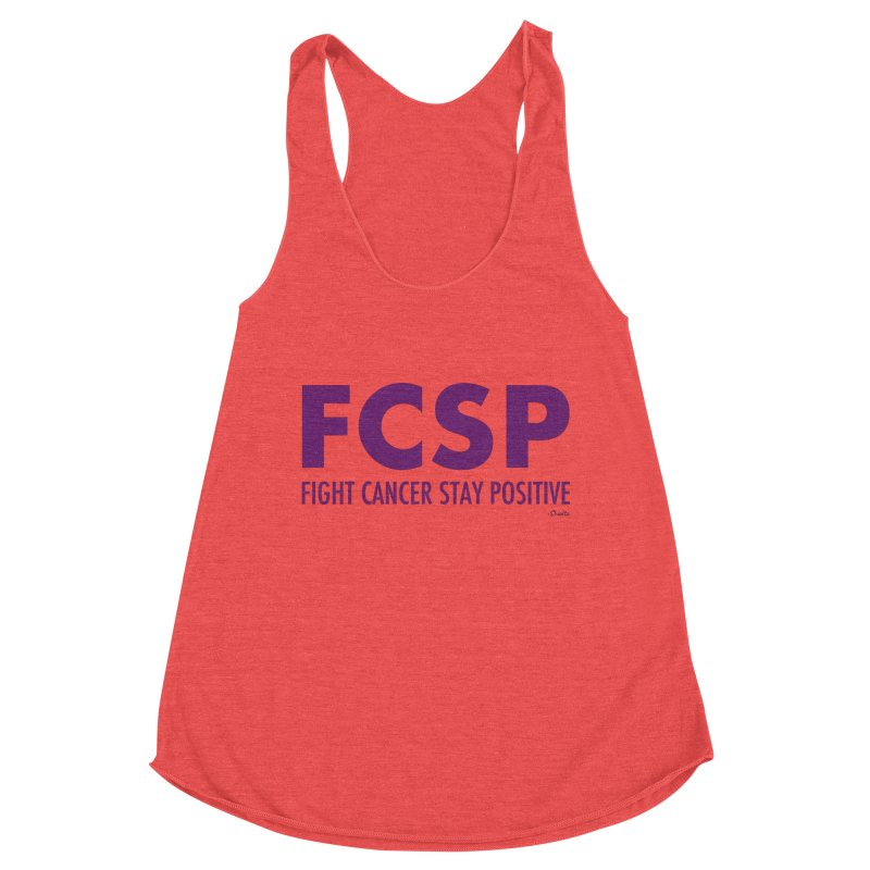Fight Cancer (Purple Font) Women's Tank by The FCSP Foundation Shop