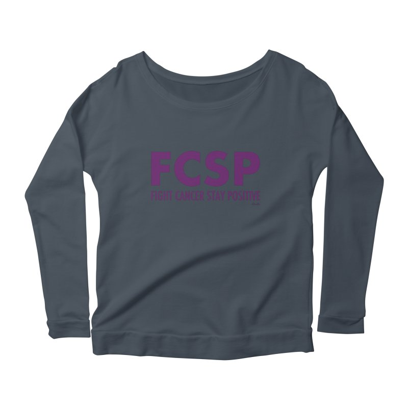 Fight Cancer (Purple Font) Women's Longsleeve T-Shirt by The FCSP Foundation Shop