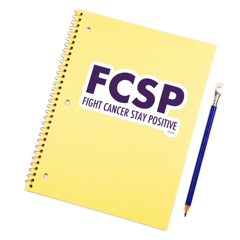Fight Cancer (Purple Font) Accessories Sticker by The FCSP Foundation Shop