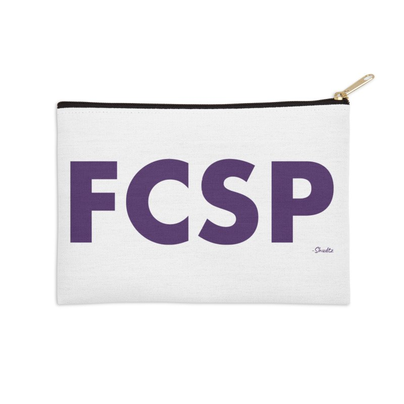 FCSP (Purple Font) Accessories Zip Pouch by The FCSP Foundation Shop