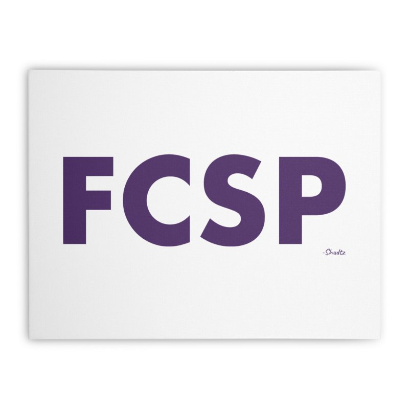 FCSP (Purple Font) Home Stretched Canvas by The FCSP Foundation Shop