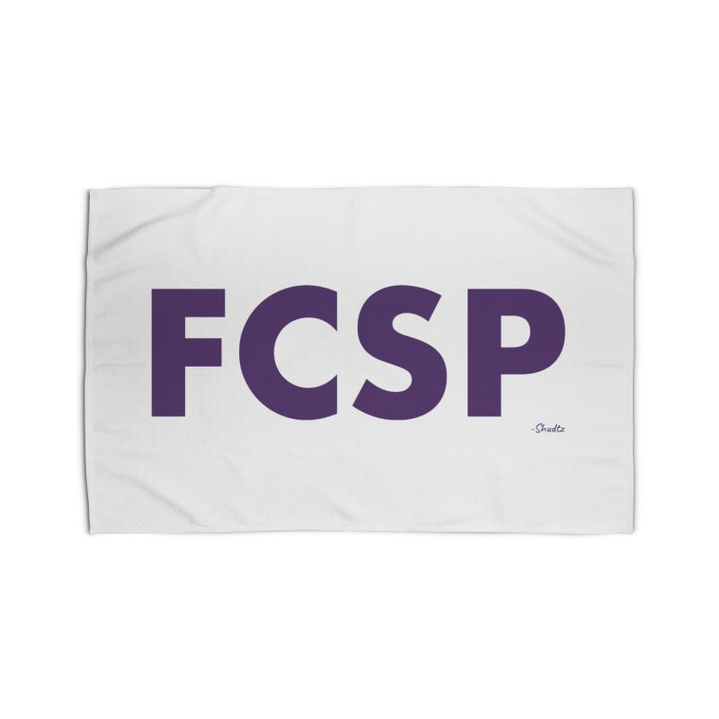 FCSP (Purple Font) Home Rug by The FCSP Foundation Shop