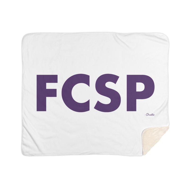 FCSP (Purple Font) Home Blanket by The FCSP Foundation Shop