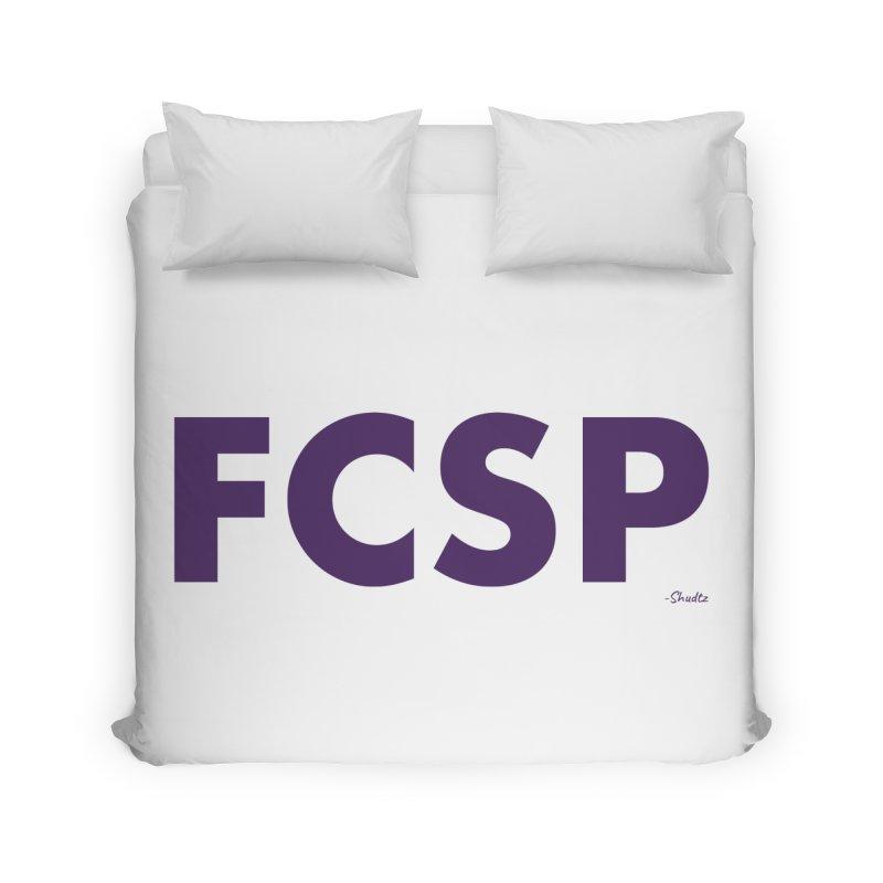 FCSP (Purple Font) Home Duvet by The FCSP Foundation Shop