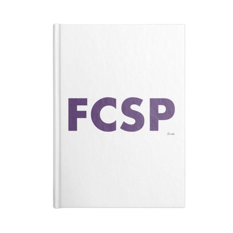 FCSP (Purple Font) Accessories Notebook by The FCSP Foundation Shop