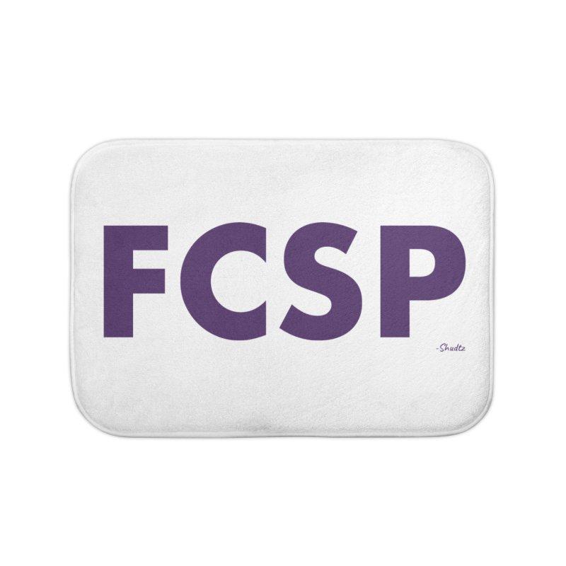 FCSP (Purple Font) Home Bath Mat by The FCSP Foundation Shop