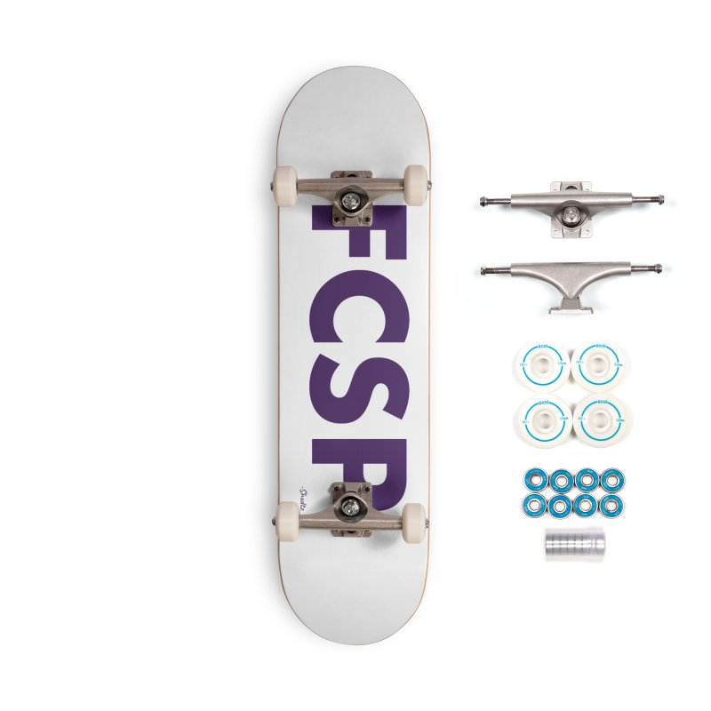 FCSP (Purple Font) Accessories Skateboard by The FCSP Foundation Shop