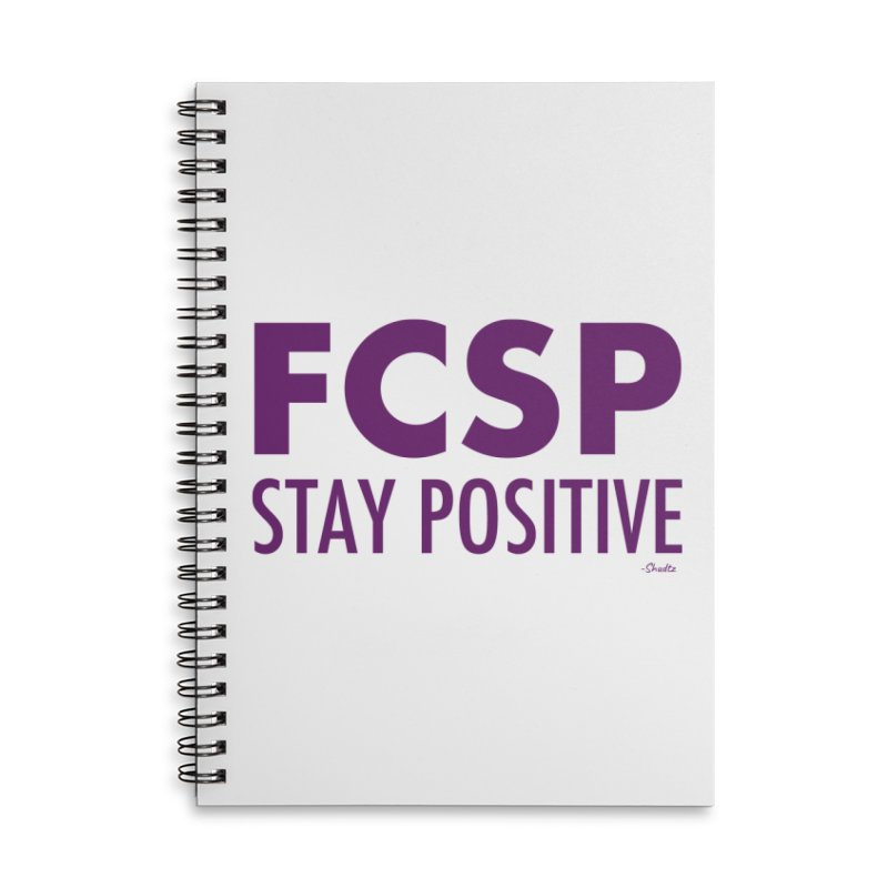 Stay Positive (Purple Font) Accessories Notebook by The FCSP Foundation Shop