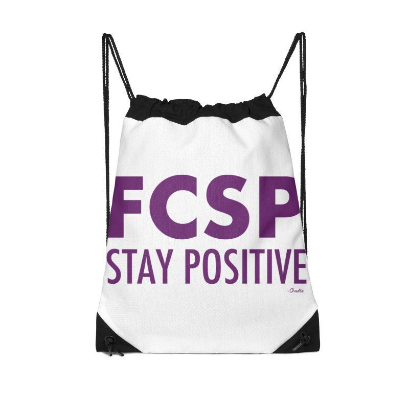 Stay Positive (Purple Font) Accessories Bag by The FCSP Foundation Shop